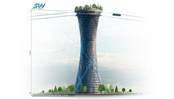 Визуализация-высотной-станции-SkyWay-уникальное-решение-три-в-одном