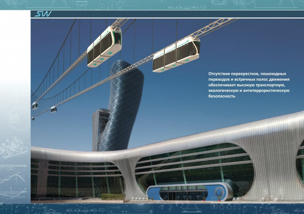 Линейный город скайвэй в Абу-Даби