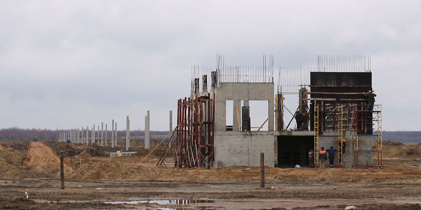 Фотоотчёт о ходе строительства ЭкоТехноПарка 15.03.16