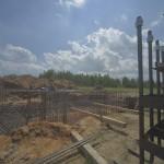 ЭкоТехноПарк: установлены опоры трассы для юнибайков