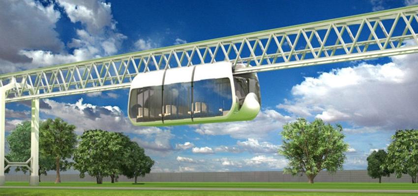 Городской подвесной бирельсовый транспортный комплекс