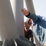 Установка анкерных опор лёгкой городской трассы SkyWay
