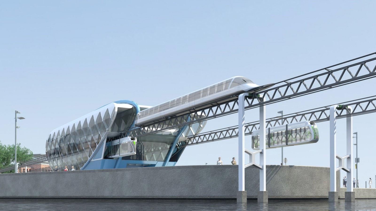 Визуализация возможного варианта применения транспортных систем SkyWay на территории Австралии
