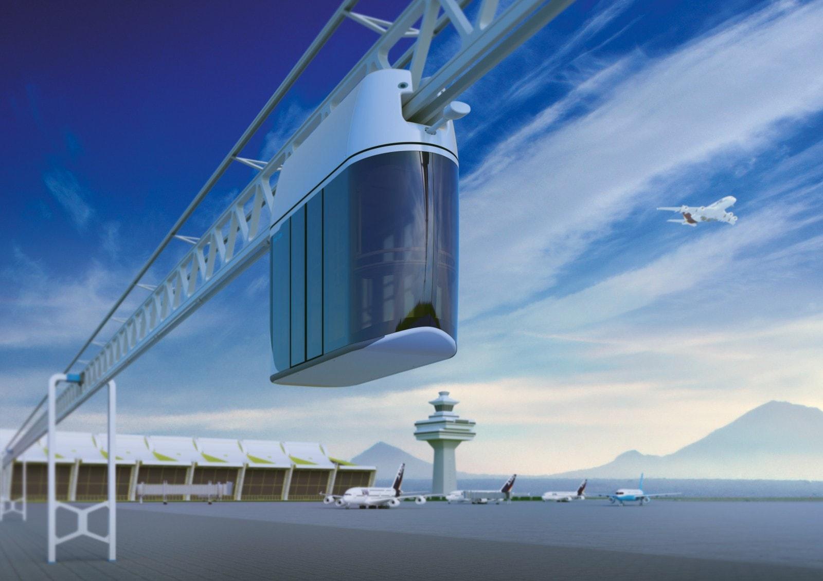 Линия SkyWay, соединяющая город с аэропортом-min