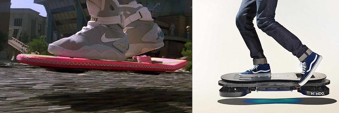 Так выглядел ховерборд Марти Макфлая из «Назад в будущее 2». А так – ховерборд Hendo-min