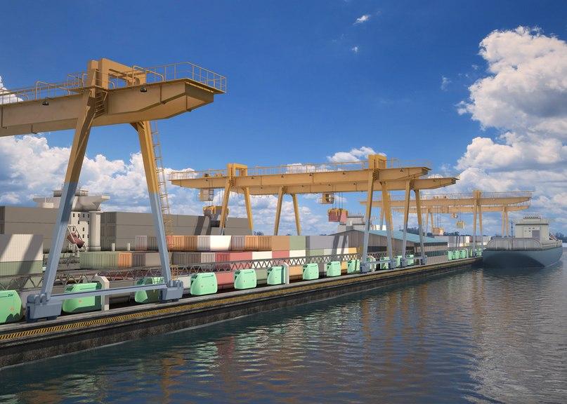 Доставка грузов юнитраком в морской порт