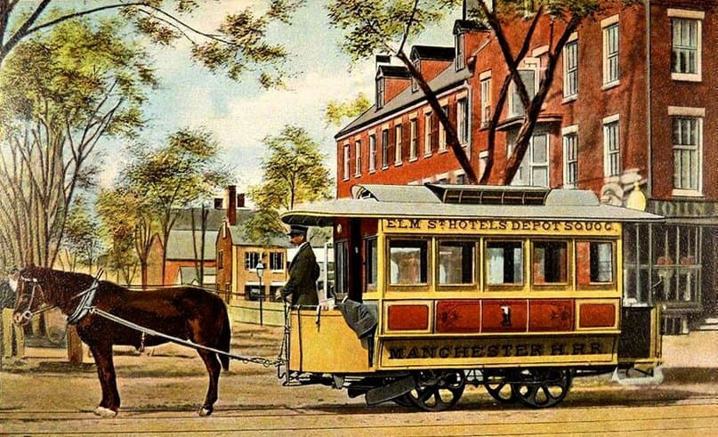 трамвай на лошадях
