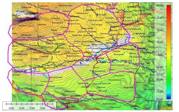 Схема транспортной сети Оренбургская паутинка на гравиооснове
