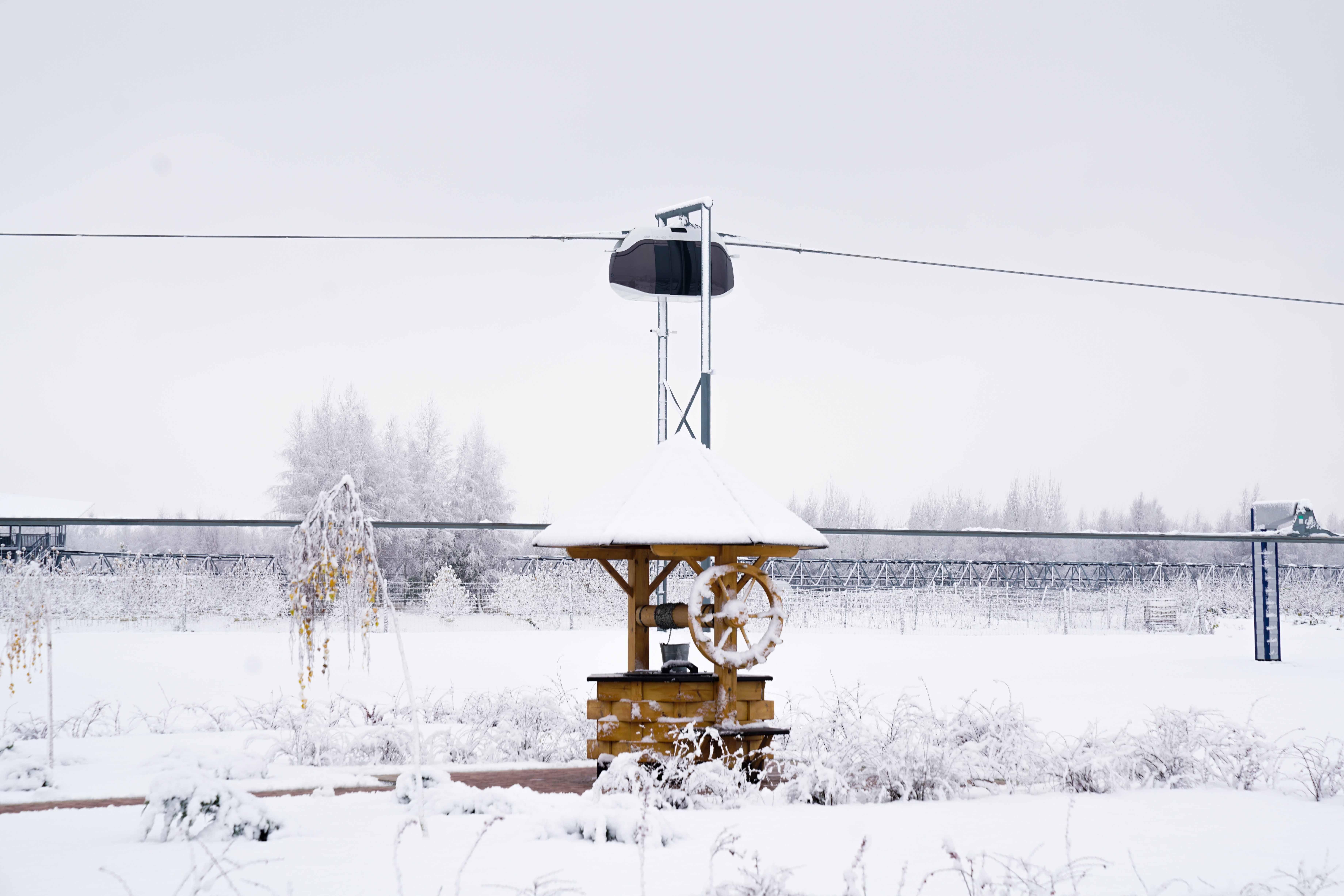 Первый снег в ЭкоТехноПарке SkyWay