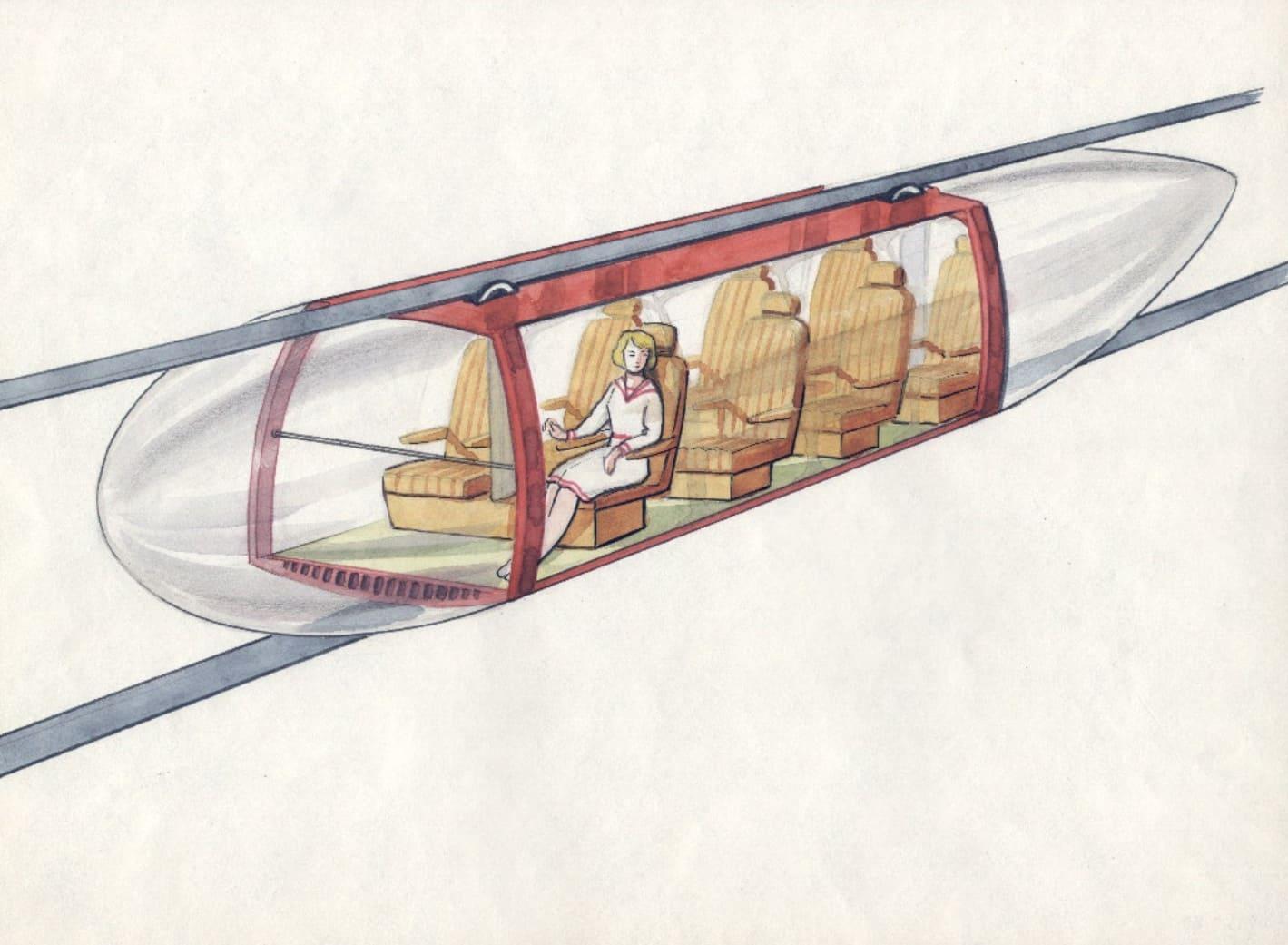 Рельсовая транспортная система второго уровня. 17 июля 1980 г.