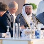 Эмир Шарджи Султан бин Мухаммад Аль-Касими на открытии центра SkyWay в Шардже-3
