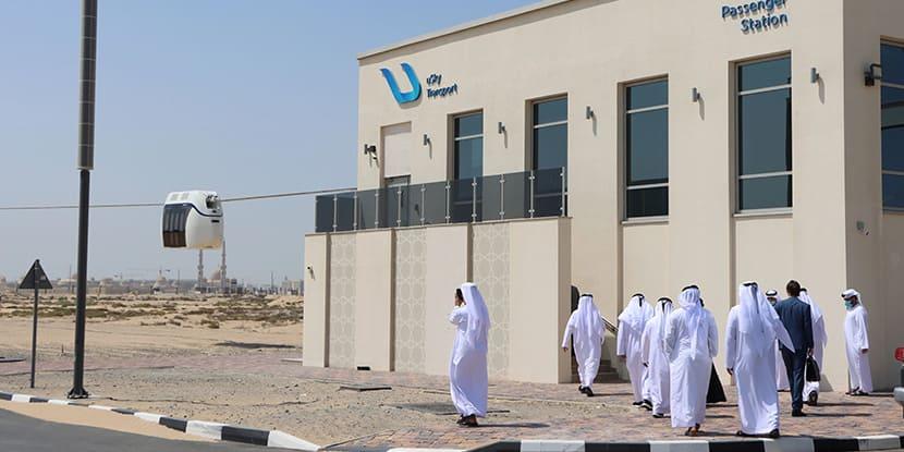 ITC delegation near uSky passenger station during the passenger line testing (1)