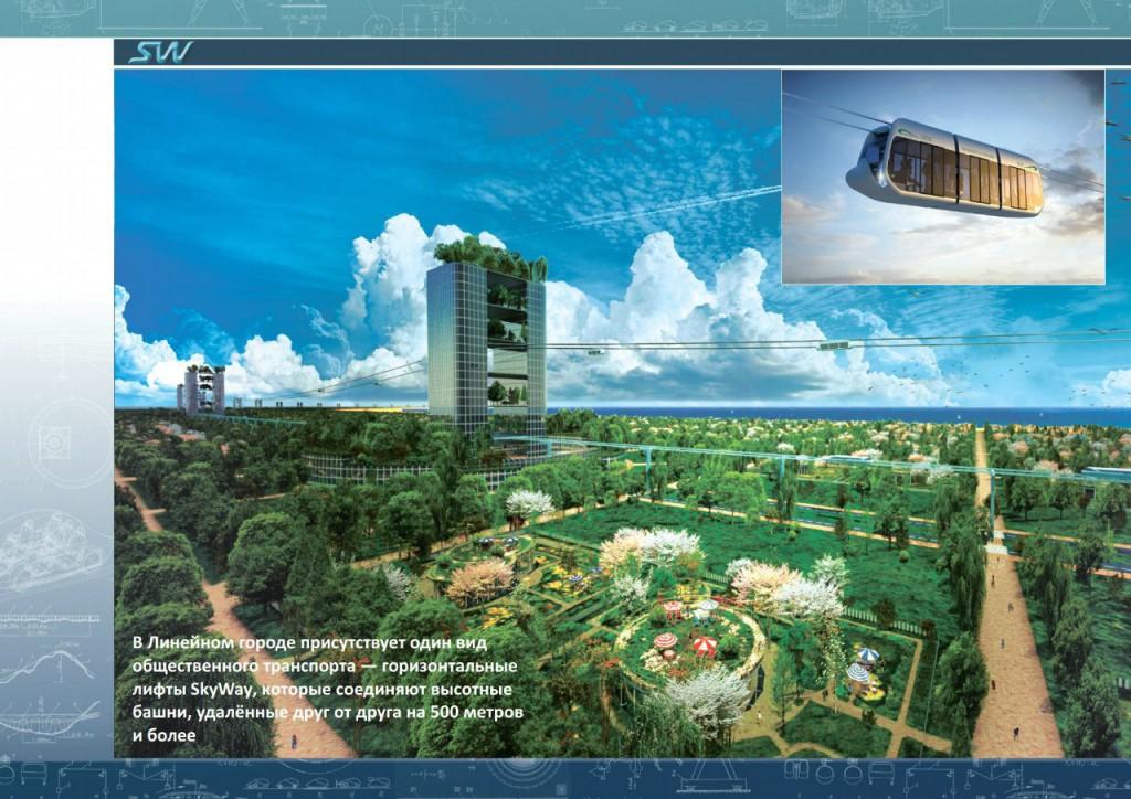 Линейный город SkyWay в Абу-Даби