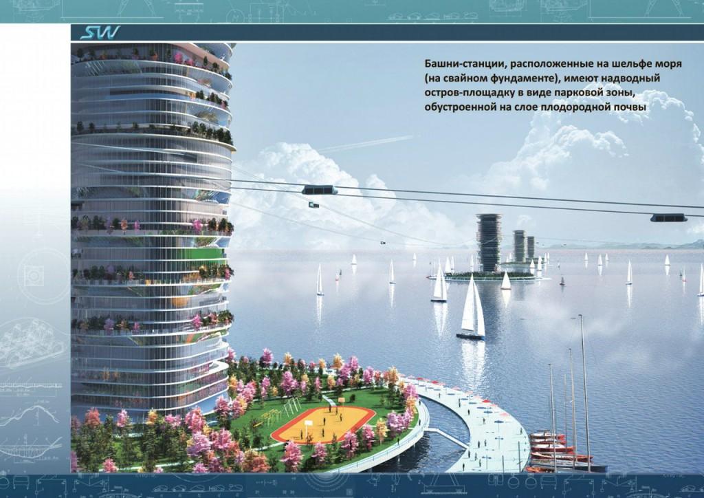 Линейный город Sky Way в Абу-Даби