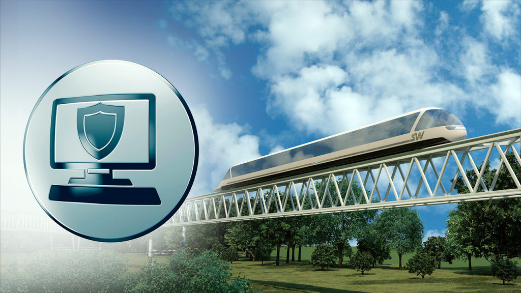 Cistema bezopasnosti i avtomaticheskogo upravlenija vysokoskorostnym transportnym kompleksom