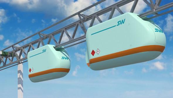 Грузовой транспорт Skyway в экотехнопарке