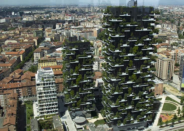 """""""Вертикальный лес"""" - здание спроектированное итальянской компанией """"Stefano Boeri Architetti"""" (2014 г.)"""