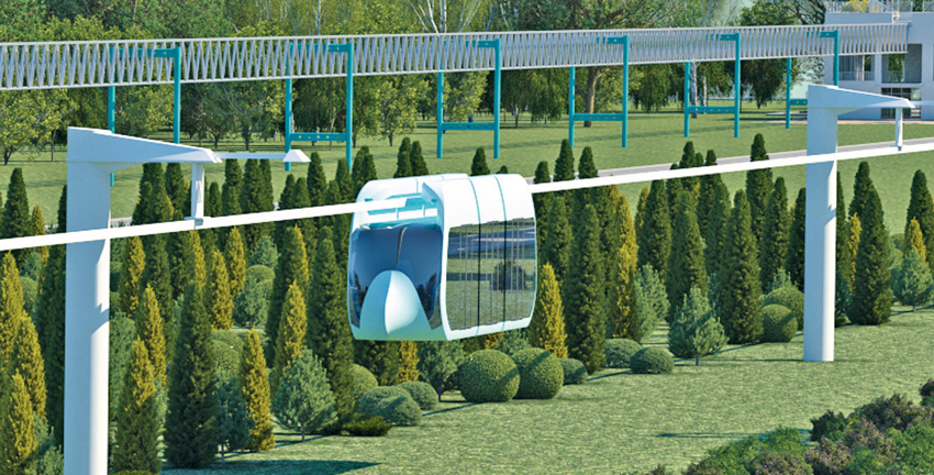 Городской подвесной монорельсовый транспортный комплекс