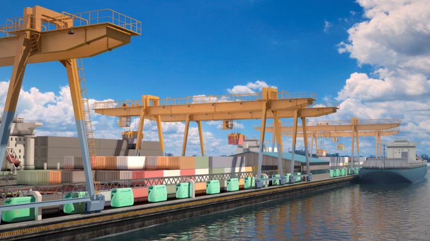Погрузо-разгрузочный грузовой морской терминал