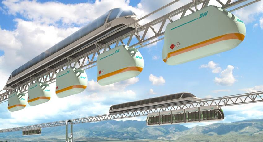 Путевая структура, выполненная по технологии SkyWay в эстакадном исполнении