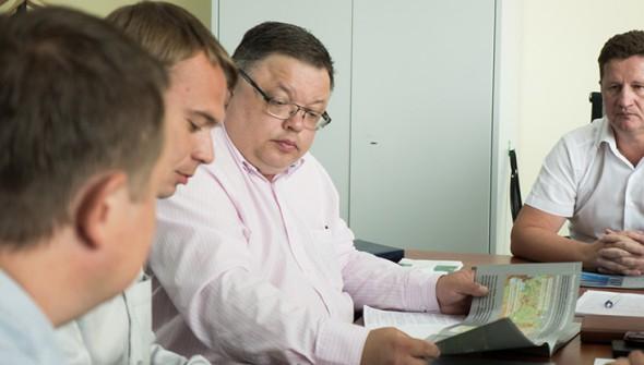Визит представителей шведского концерна SSAB в офис ЗАО «Струнные технологии»