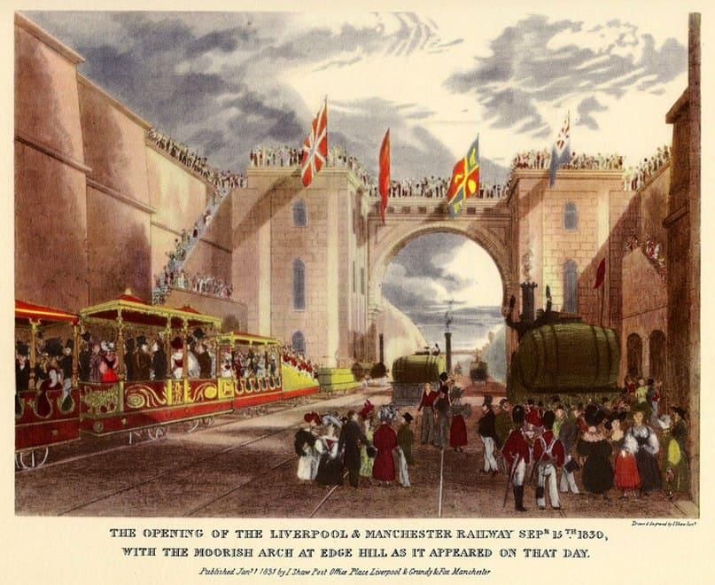 Открытие железной дороги Ливерпуль — Манчестер, 25 сентября, 1830 г
