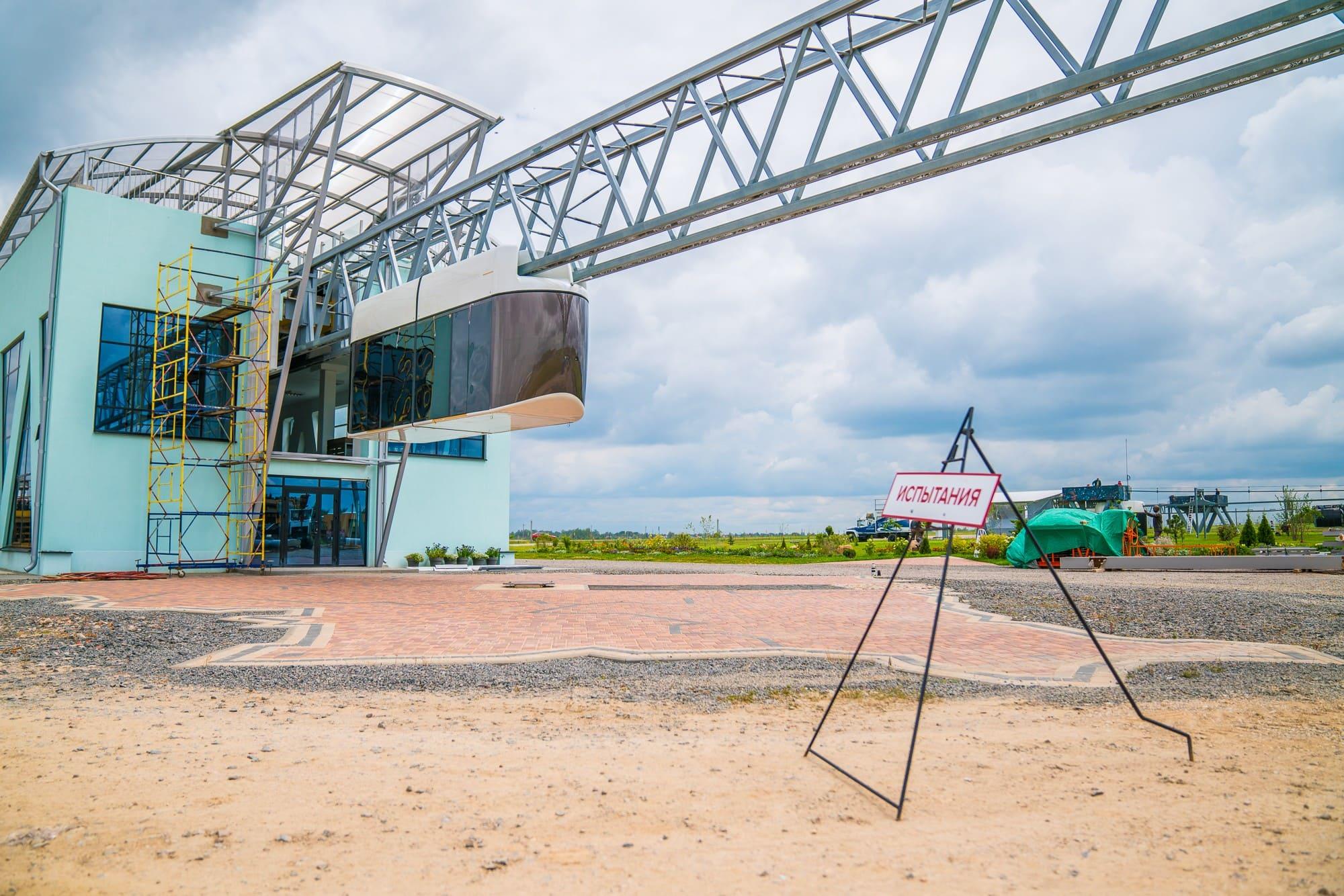 Начало ходовых испытаний бирельсового юнибуса на участке городскоговысокоскоростного комплекса SkyWay