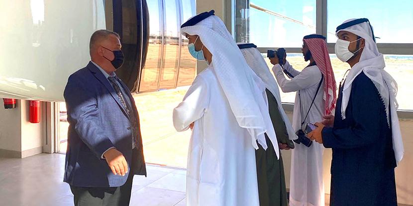 BỘ TRƯỞNG CHÍNH PHỦ UAE VÀ CÁC ĐẠI DIỆN DOANH NGHIỆP CỦA SAUDI ARABIA ĐÃ THAM QUAN TRUNG TÂM R&D CỦA CÔNG NGHỆ UNITSKY STRING TẠI SHARJAH