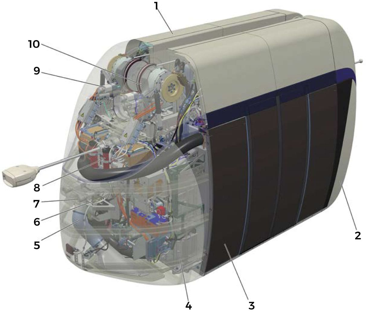 The main assemblies of uCar are the traction module